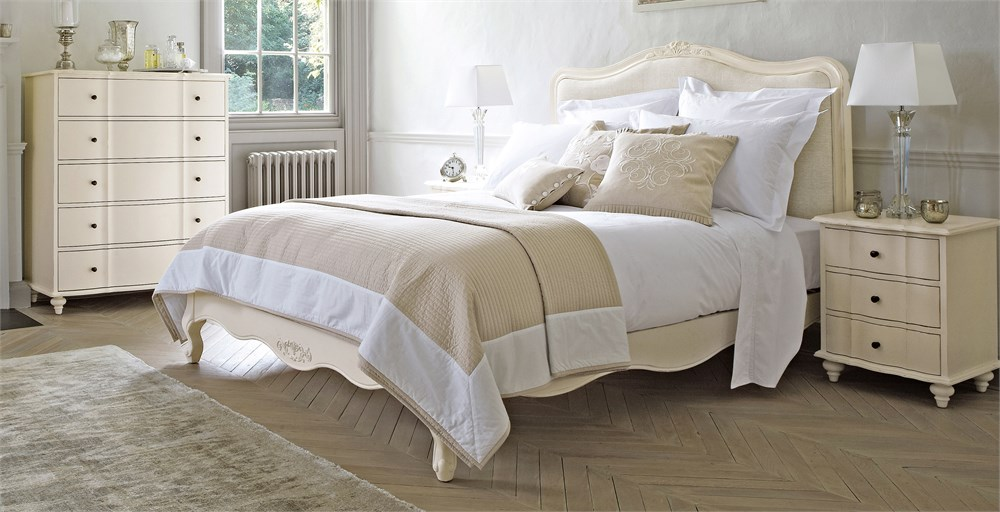 Amelie White Wooden Bedstead